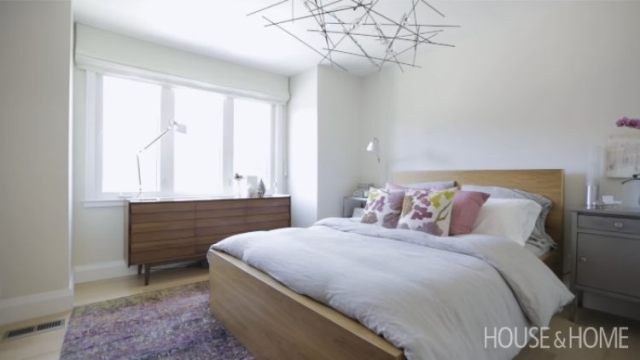 Bedroom in small house after renovation
