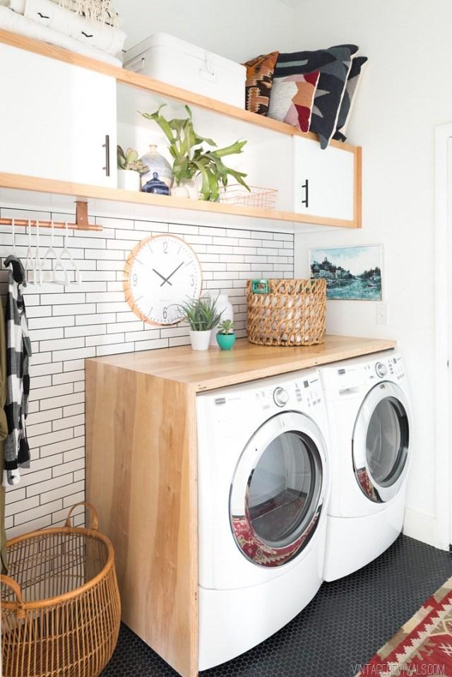 Boho Laundry Room