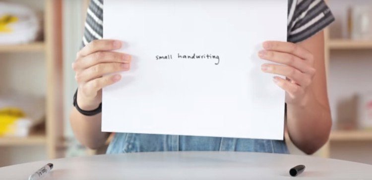 What your handwriting says about you.