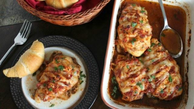 Italian Hasselback Chicken