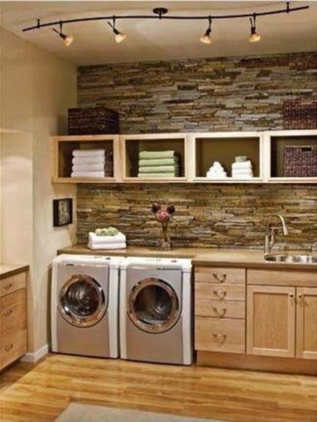 Natural Laundry Room