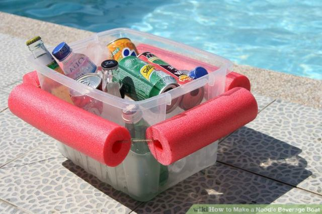 Finished cooler made from pool noodles