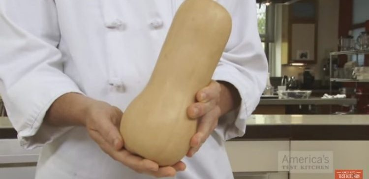 How to prepare a butternut squash.