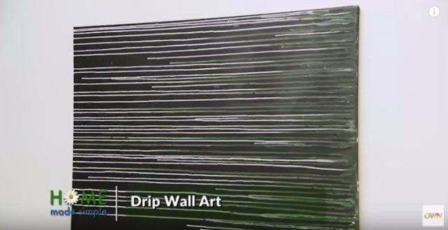DIY drip wall art inspired by Jackson Pollock