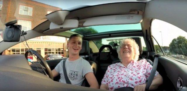 Nan gets emotional to birthday surprise.