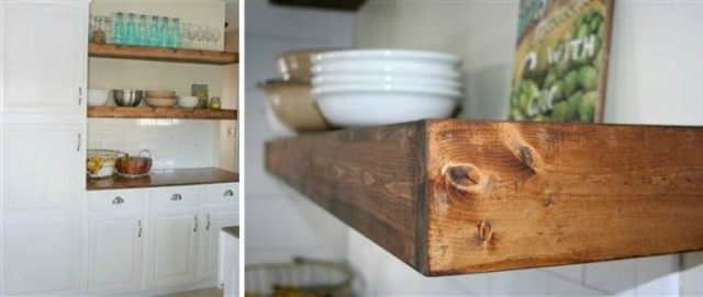 Trendy kitchen shelves.