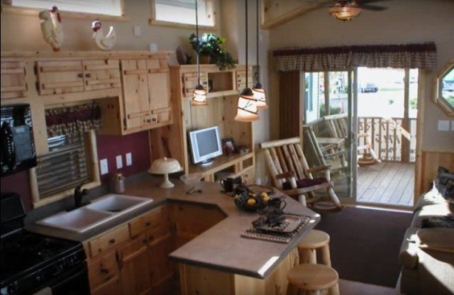 Shot of the interior of one of the River Run RV homes.