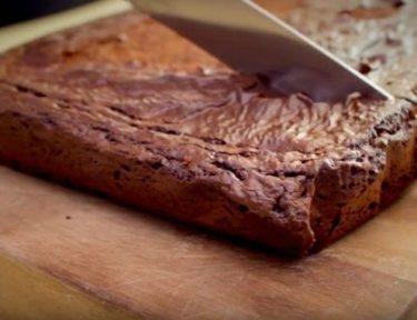 Simple brownies made with three ingredients.