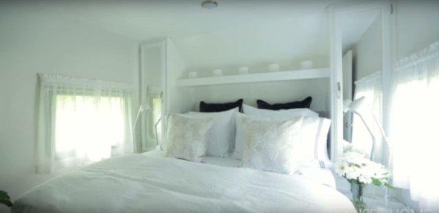 Made-over trailer bedroom.