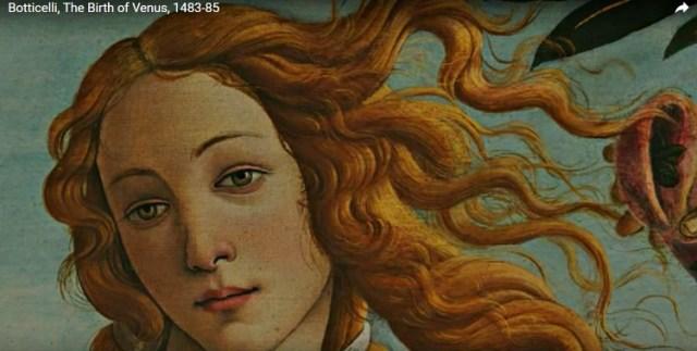 Богиня Венера в Боттичелли живописи.