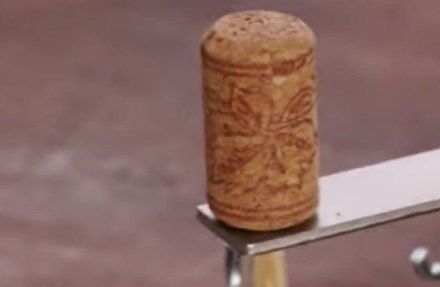 cork on l-bracket