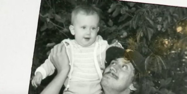Baby Jeni with her father