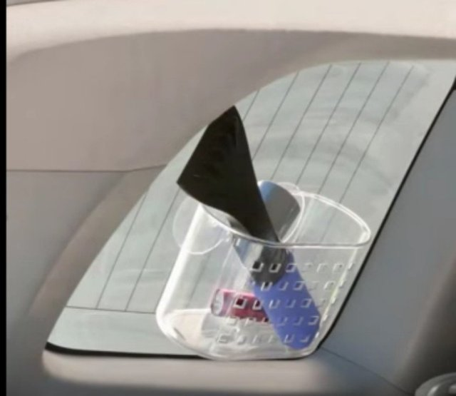 shower caddy car window