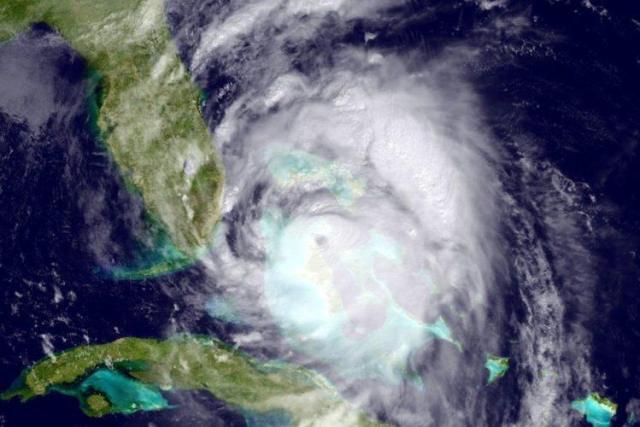 An image of Hurricane Matthew.