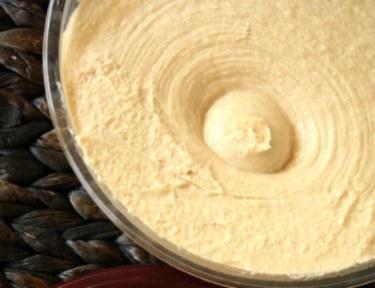 Sabra hummus closeup.