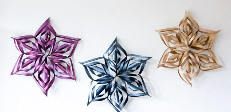How to make a DIY giant snowflake decor.