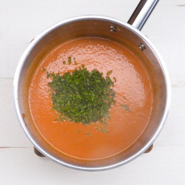 Tomato Basil Soup herbs.