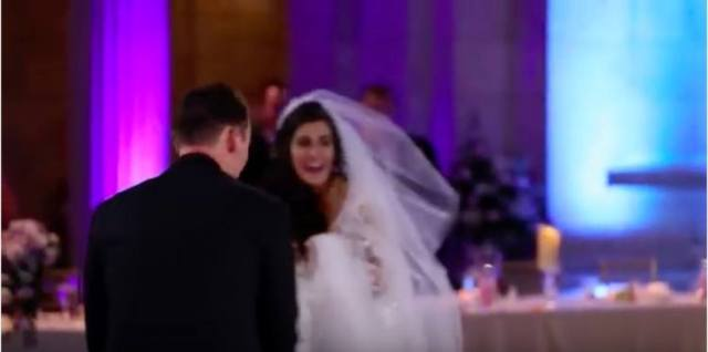 bride screams on dance floor