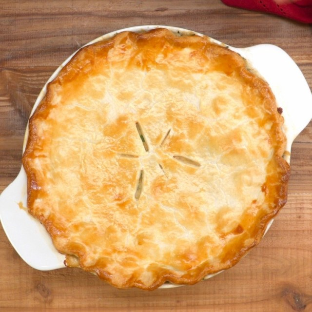 Baked whole chicken pot pie