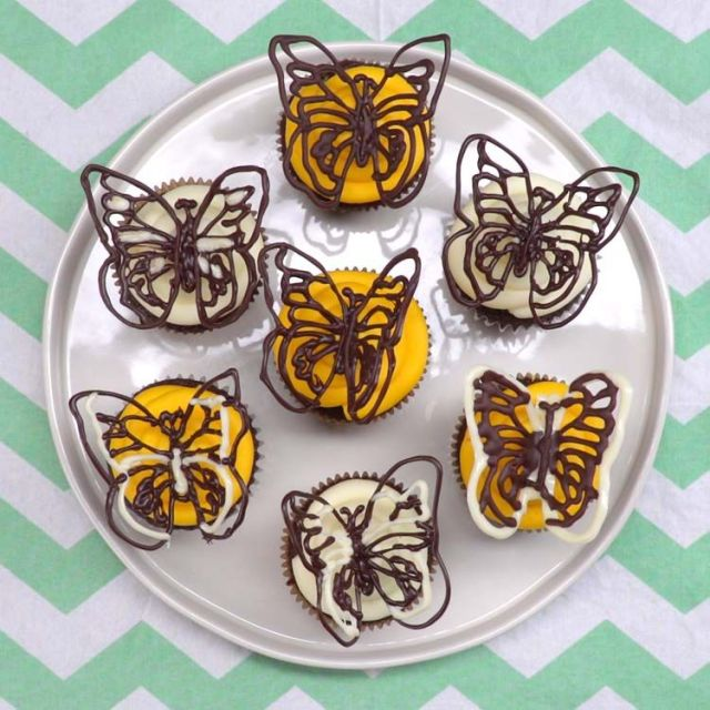 Chocolate Butterflies plated