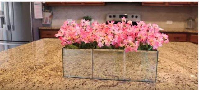 mirrored flower box