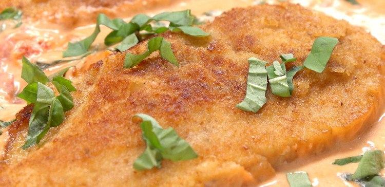 basil cream chicken featured image