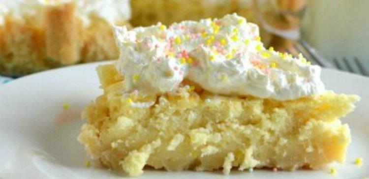 Tart crust filled with Irish lemon pudding
