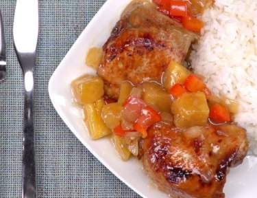 slow cooker pineapple chicken featured image