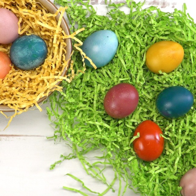 Naturally Dyed Easter Eggs grass
