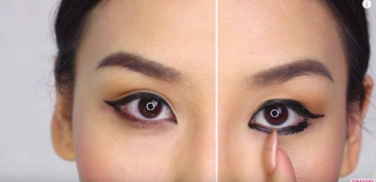 eyeliner split image before and after