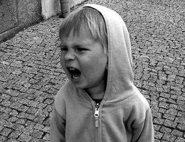 Image of yelling child.