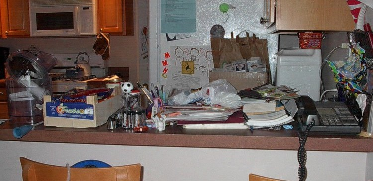 Image of cluttered home.