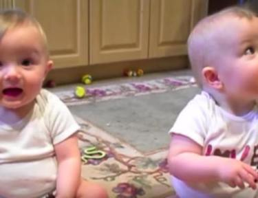 twins playing and sneezing