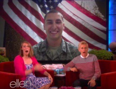 Ellen surprises guest with Skype call