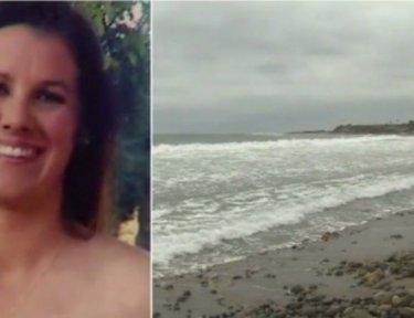 split screen of Leeanne Ericson and ocean