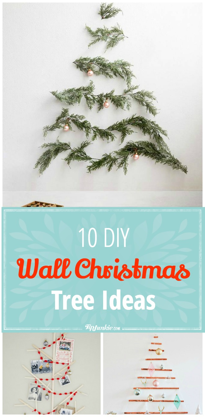 String Lights Make Your Own 10 Diy Wall Christmas Tree Ideas – Tip Junkie
