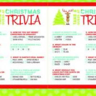 Christmas Trivia Printable Games {Christmas Activities} \u2013 Tip Junkie