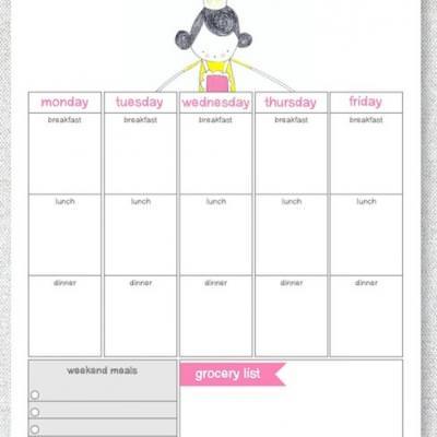 Printable Weekly Meal Calendar Tip Junkie - meal calendar