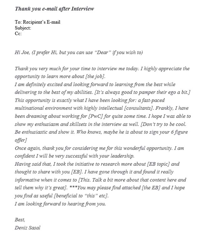 Follow up email after interview - Tips Tricks  Tutorial