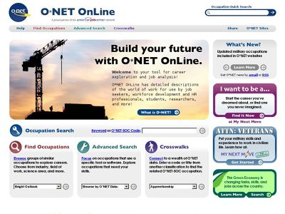 ONet Online Tips for Job Seekers
