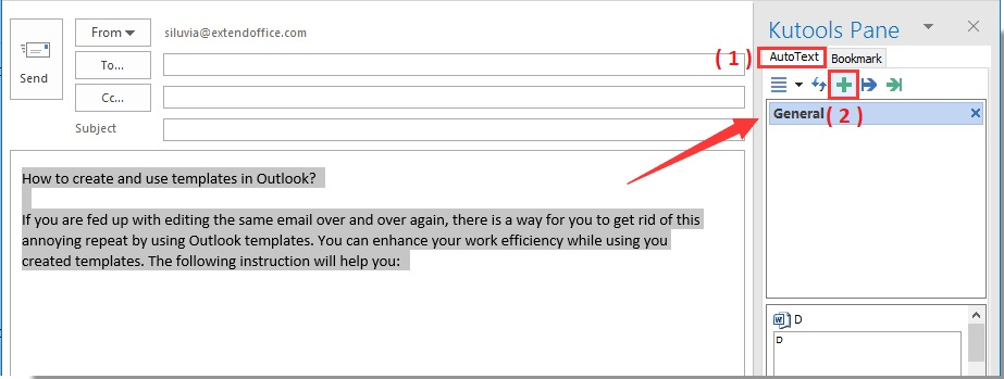 Create templates in Outlook with Kutools - E - mail tips and tricks