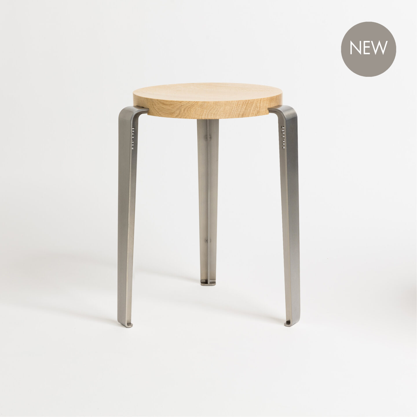 Tabourets Easy Lou Stool Solid Oak Raw Finish