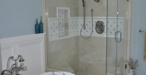 Snellville Plumber, Master shower and pedestal tub remodel