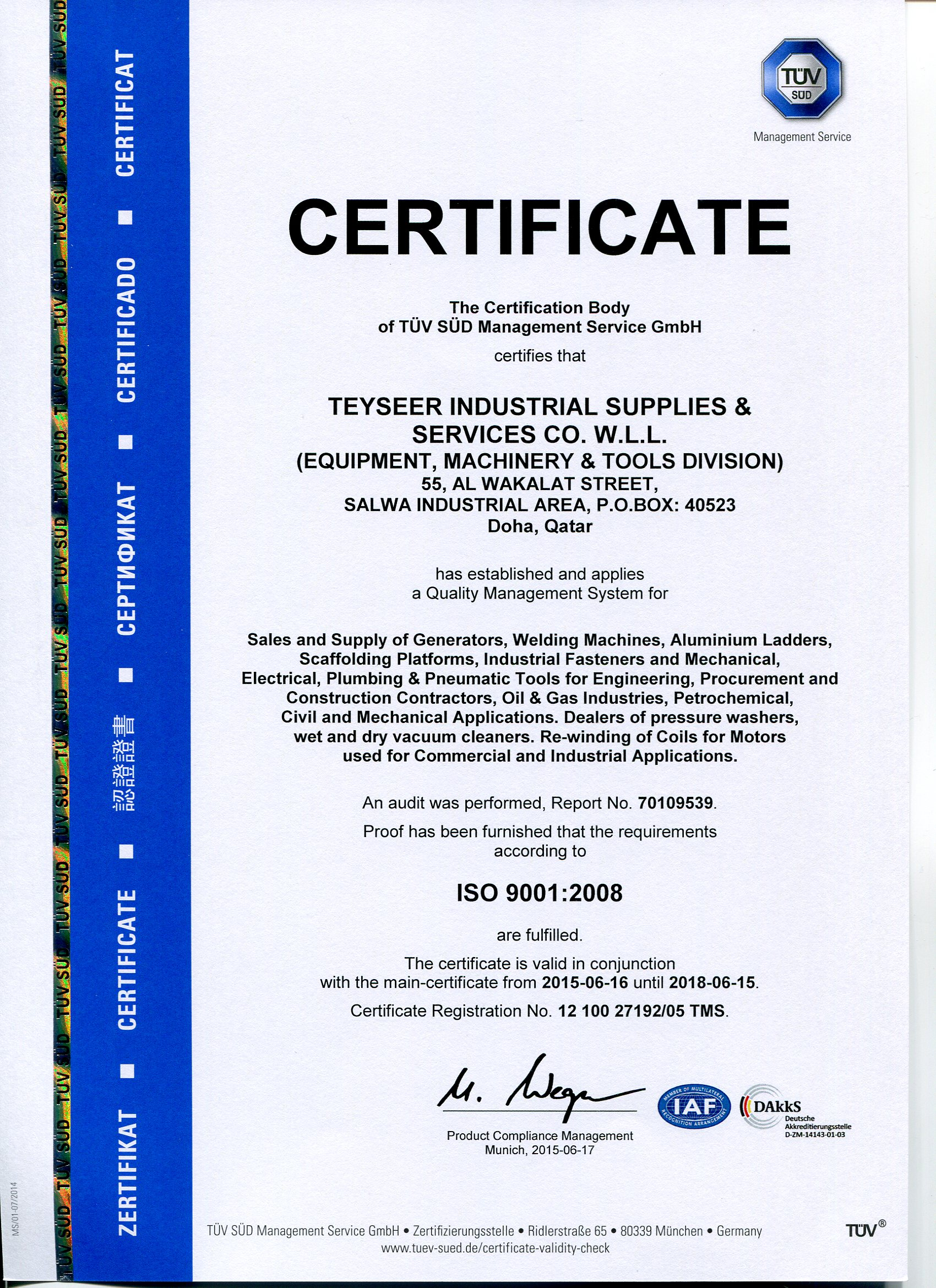 Black Point System In Qatar Teyseer Industrial Supplies Services Co W L L