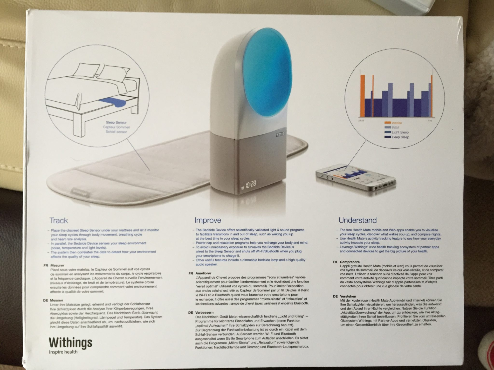 Nachttischlampe Mit Dimmer Withings Aura Review A Smart Sleep System Titaniumgeek