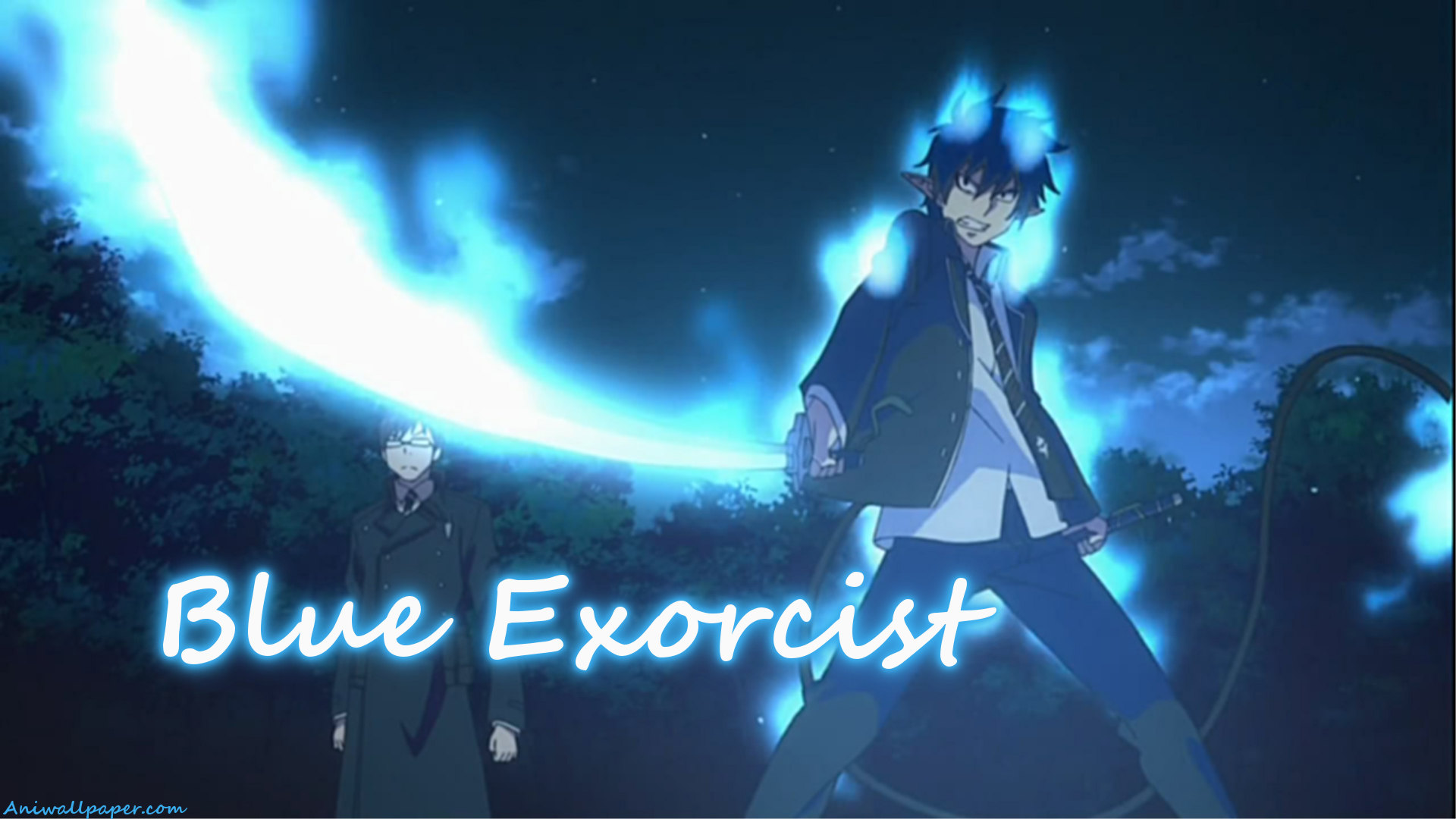 Fight Club Movie Quotes Wallpaper Blue Exorcist Rin And Yukio Okumura Fullhd 1920 215 1080 June