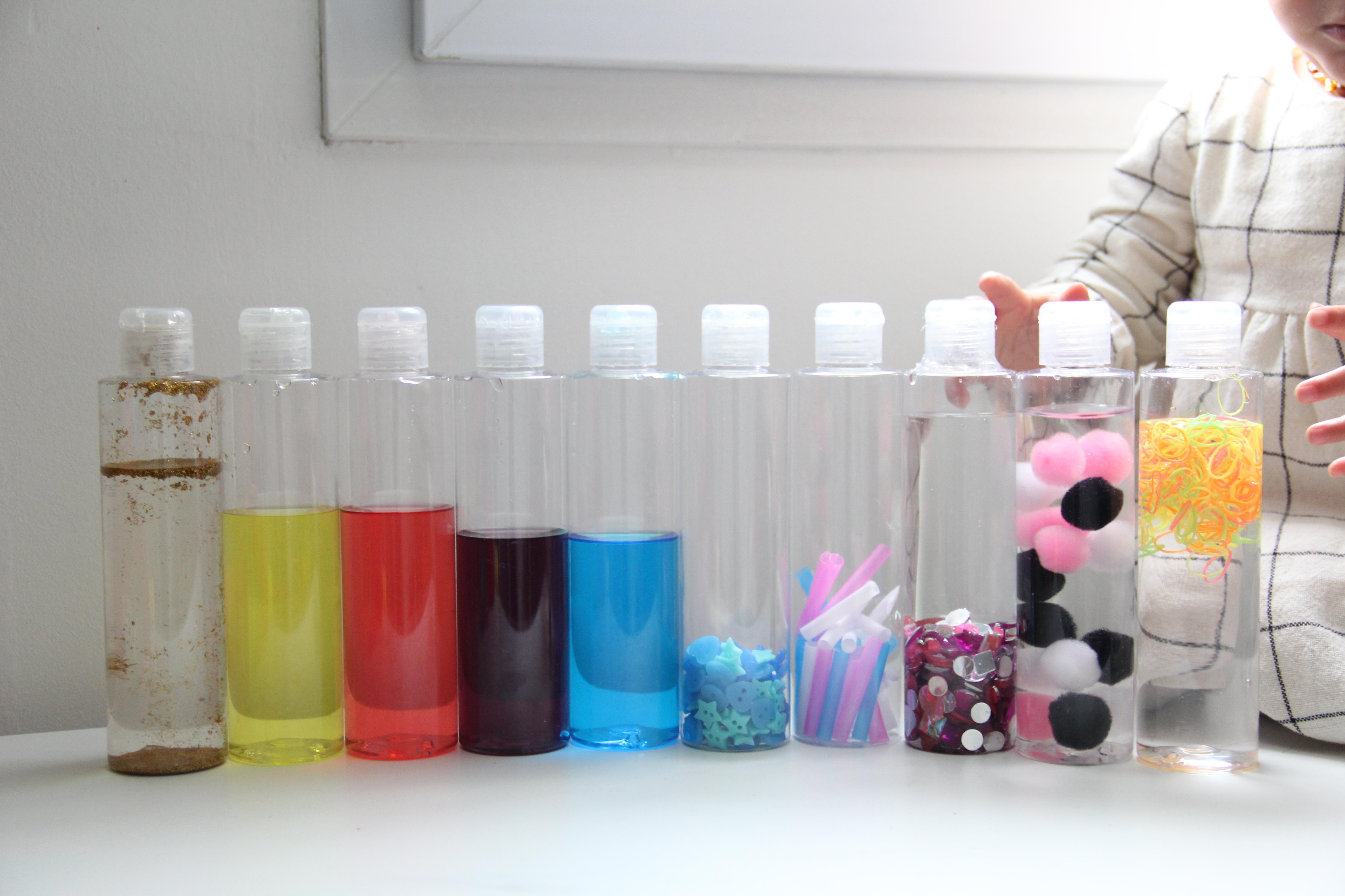 Favorit Activité / DIY] Bouteilles sensorielles pour bébé (Montessori  TK44