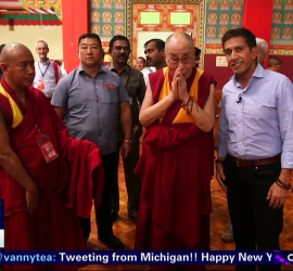 The Dalai Lama appeared on CNN's New Year's Eve program.