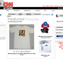 The CNN online store as of August 3, 2017.