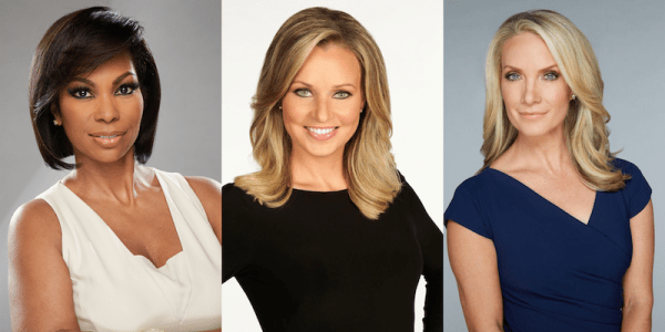 Composite photo of (L-R) Harris Faulkner, Sandra Smith, and Dana Perino. Individual photos courtesy of Fox News